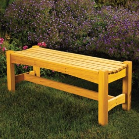 Cedar Garden Bench Downloadable Plan