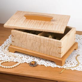 Secret-compartment jewelry box Printed Plan