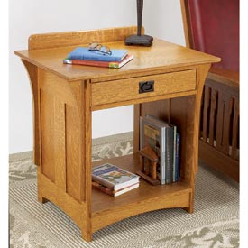 Arts and Crafts Nightstand Downloadable Plan
