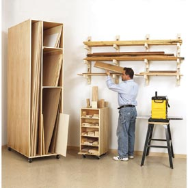 Triple-Threat Storage for Lumber, Scraps, and Sheet Goods Downloadable Plan