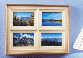Four-in-one Photo Frame Woodworking Plan, Gifts & Decorations Picture Frames
