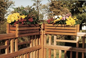 Deck-rail planter frames