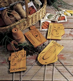 Garden markers Woodworking Plan, Outdoor Gardening