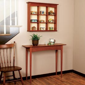 Curio Shelf and Hall Table Downloadable Plan