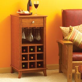 Ready-to-serve wine cabinet Downloadable Plan