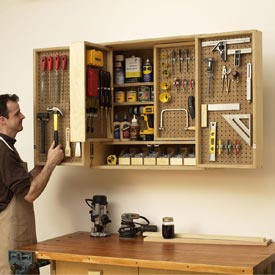 Shop-in-a-box tool cabinet Printed Plan