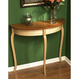 Simply graceful bow front table Downloadable Plan