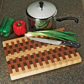 End-grain cutting board Downloadable Plan