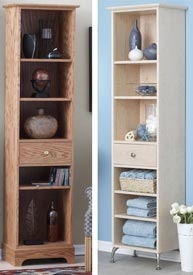 Slender-and-Simple Tower Shelves Downloadable Plan