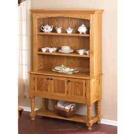 Classic Country Oak Hutch Downloadable Plan