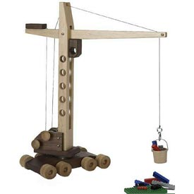 Construction-Grade Mobile Crane Woodworking Plan, Toys & Kids Furniture