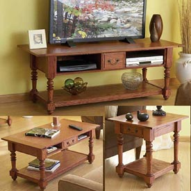 Big Screen TV Trio Woodworking Plan, Furniture Entertainment Centers Furniture Tables