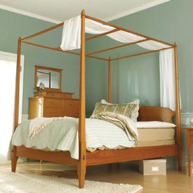 Pencil Post Shaker-Style Bed Downloadable Plan