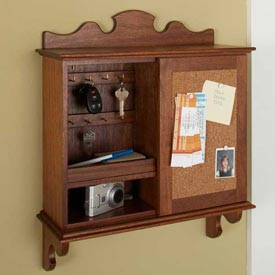 Sliding-Door Hideaway Wall Organizer Downloadable Plan