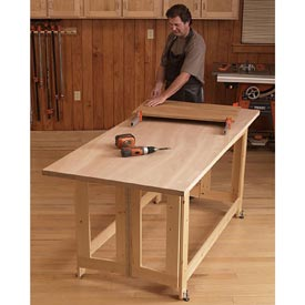 Folding Work Table Downloadable Plan