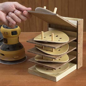 Flip-Up Sanding Disc Caddy Downloadable Plan