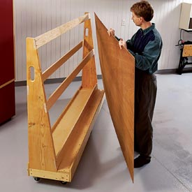 Roll-Around Plywood Cart Downloadable Plan