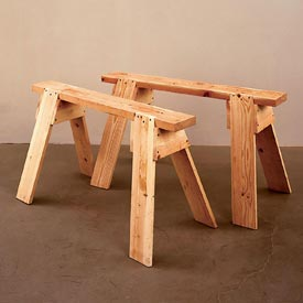 Back-to-Basics Sawhorses Downloadable Plan