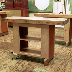 Mobile Utility Bench Woodworking Plan, Workshop & Jigs Workbenches Workshop & Jigs $2 Shop Plans