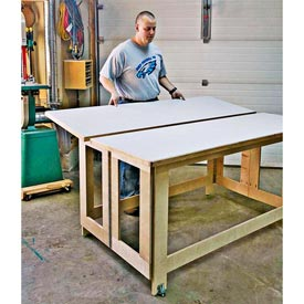 Folding Assembly Table Woodworking Plan, Workshop & Jigs Workbenches Workshop & Jigs $2 Shop Plans