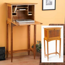 Drop Front Desk Woodworking Plan, Furniture Desks