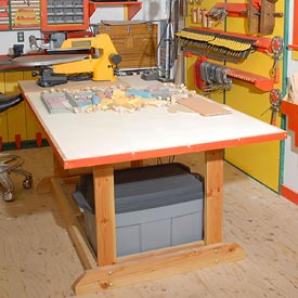 Back-to-Basics Work Table Woodworking Plan, Workshop & Jigs Workbenches Workshop & Jigs $2 Shop Plans