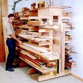 Modular Lumber Rack Downloadable Plan