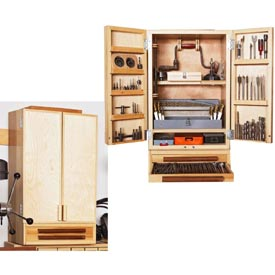 Easy, Attractive Drill-bit Cabinet Downloadable Plan