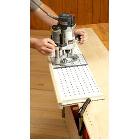 Plunge-Router Shelf-Pin Jig Downloadable Plan