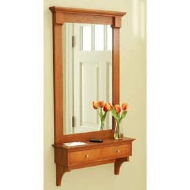 Shelf and Mirror Woodworking Plan, Furniture Mirrors