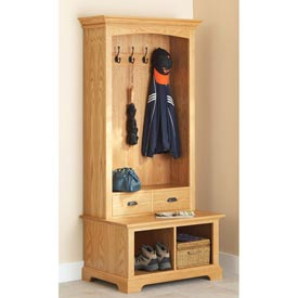 Hall Tree Storage Bench Downloadable Plan