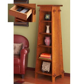 Solid-Oak Tapered Display Tower Downloadable Plan
