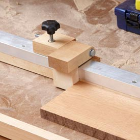 Radial-arm-saw/Mitersaw Fence Stop Downloadable Plan