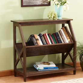 Built-with-a-tilt Book Nook Bookcase Woodworking Plan, Furniture Bookcases & Shelving