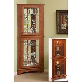 Corner Curio Cabinet Woodworking Plan, Furniture Bookcases & Shelving Furniture Cabinets & Storage