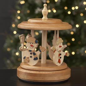 Music-Box Carousel Woodworking Plan, Gifts & Decorations Scrollsaw, Carving, & Decorative Projects