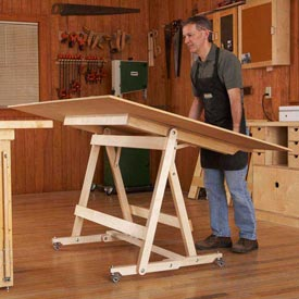 Fold-Flat Sheet Goods Mover Woodworking Plan, Workshop & Jigs Tool Bases & Stands