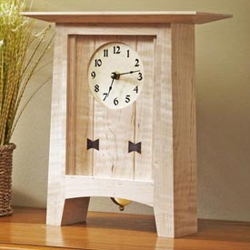 Bow-Tie Clock Woodworking Plan, Gifts & Decorations Clocks