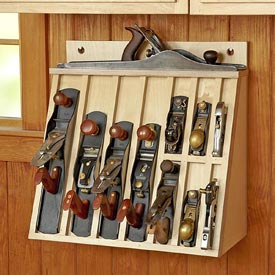 Hand-plane Rack Woodworking Plan, Workshop & Jigs Shop Cabinets, Storage, & Organizers Workshop & Jigs $2 Shop Plans