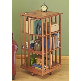 Revolving Danner-inspired Bookcase Downloadable Plan