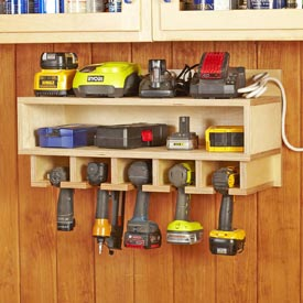 Cordless Tool Station Printed Plan