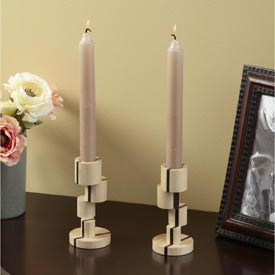 Offset-turned Candlesticks Woodworking Plan, Gifts & Decorations Lighting Turning Projects