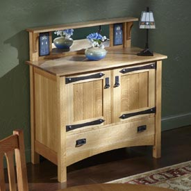 Handsome Mission Hutch Woodworking Plan, Furniture Cabinets & Storage