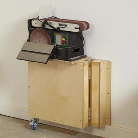 Swing-out, Fold-flat Tool Stand Woodworking Plan, Workshop & Jigs Tool Bases & Stands Workshop & Jigs $2 Shop Plans