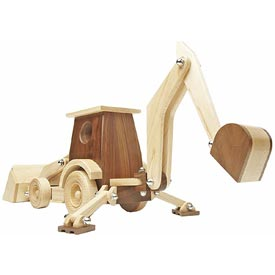 Construction-grade Backhoe Loader Woodworking Plan, Toys & Kids Furniture