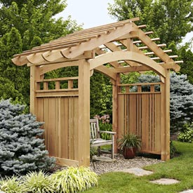 Arching Garden Arbor Printed Plan