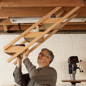 Overhead Swing-down Shop Storage Downloadable Plan
