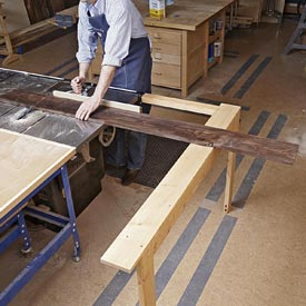 Extending Tablesaw Stock Support Downloadable Plan