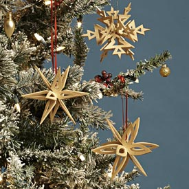 Interlocking Snowflake Ornaments Woodworking Plan, Gifts & Decorations Scrollsaw, Carving, & Decorative Projects Holidays