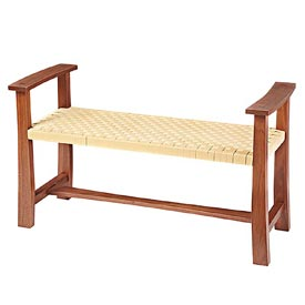 Woven-seat Bench Woodworking Plan, Furniture Seating